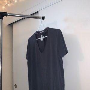 Small Dark Gray Choker Tee Shirt
